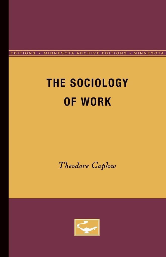 The Sociology of Work als Taschenbuch