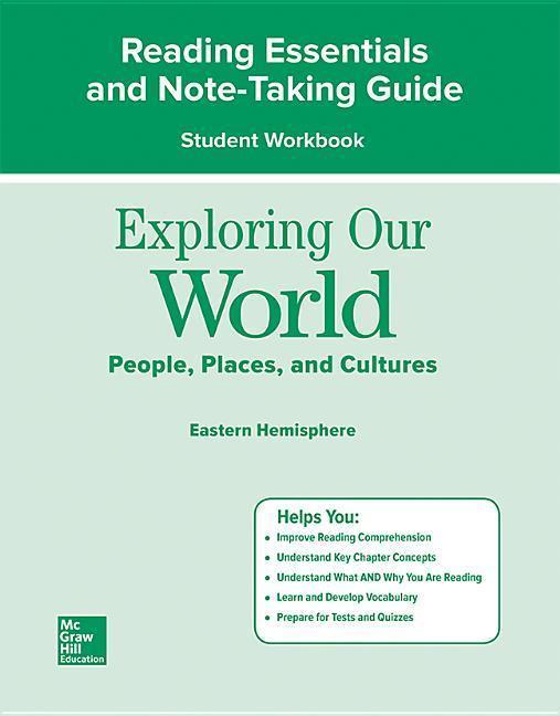 Exploring Our World: Eastern Hemisphere, Reading Essentials and Note-Taking Guide Workbook als Taschenbuch