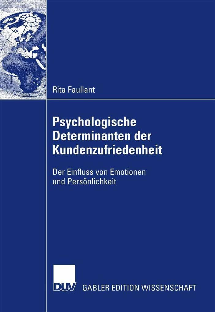 Psychologische Determinanten der Kundenzufriedenheit als eBook pdf