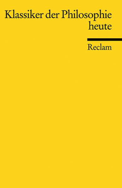 Klassiker der Philosophie heute als Taschenbuch
