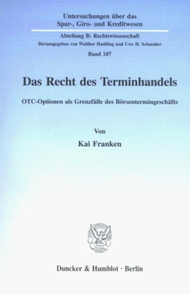 Das Recht des Terminhandels als Buch (kartoniert)