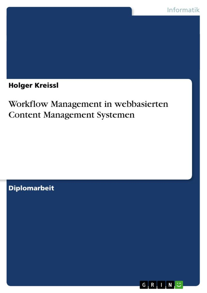 Workflow Management in webbasierten Content Management Systemen als Buch (kartoniert)