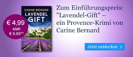 Zum Einführungspreis bei eBook.de: Lavendel-Gift von Carine Bernard