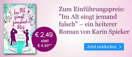 Zum Einführungspreis bei eBook.de:  Im Alt singt jemand falsch von Karin Spieker