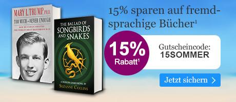 15% sparen auf fremdsprachige Bücher