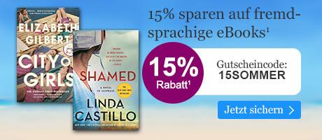 15% sparen auf feemdsprachige eBooks