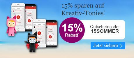 15% sparen auf Kreativ-Tonies bei eBook.de mit dem Gutschein 15SOMMER