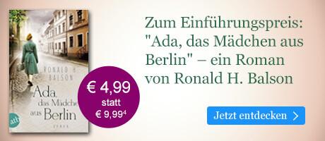 Zum Einführungspreis bei eBook.de: Ada, das Mädchen aus Berlin von Ronald H. Balson