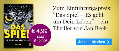 Zum Einführungspreis bei eBook.de: Das Spiel ¿ Es geht um Dein Leben von Jan Beck