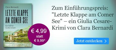 Zum Einführungspreis bei eBook.deÖ Letzte Klappe am Comer See von Clara Bernard
