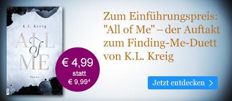 Zum Einführungspreis bei eBook.de: All of Me von K. L. Kreig