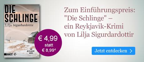 Zum Einführungspreis bei eBook.de: Die Schlinge von Lilja Sigurdardottir