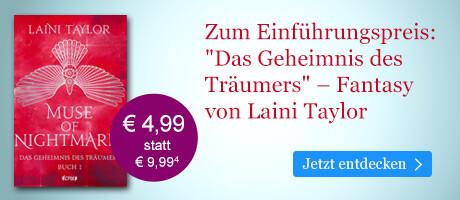Zum Einführungspreis bei eBook.de: Muse of Nightmares - Das Geheimnis des Träumers von Laini Taylor