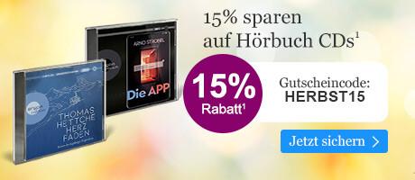 15% sparen auf Hörbuch CDs