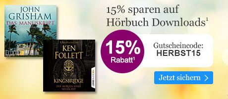 15% sparen auf Hörbuch Downloads