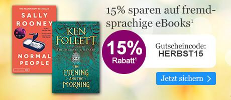 15% sparen auf fremdsprachige eBooks