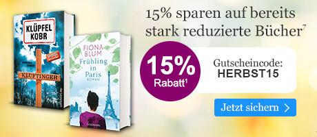 15% sparen auf bereits reduzierte Bücher