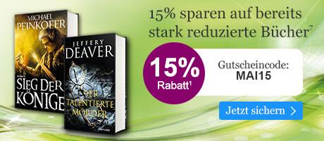 Sapren Sie 15% auf bereits stark reduzierte Bücher