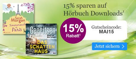 Sparen Sie 15% auf Hörbuch Downloads