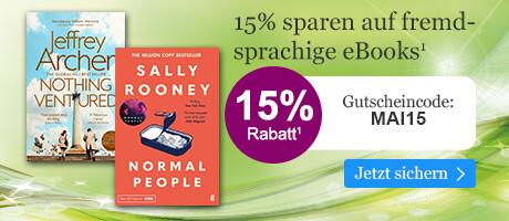 Sapren Sie 15% auf viele internationale eBooks