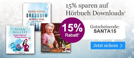 Sichern Sie sich 15% Advents-Rabatt mit Ihrem Gutschein SANTA15 bei eBook.de