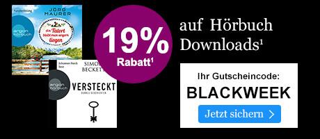 BLACK WEEK: 19% sparen auf Hörbuch Downloads