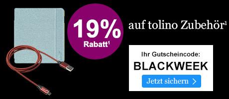 BLACK WEEK: 19% sparen auf tolino Zubehör