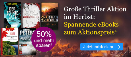 Große Thriller Aktion im Herbst: Spannende eBooks zum Aktionspreis bei eBook.de