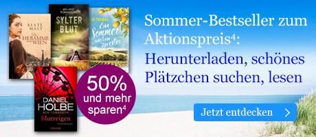 Unsere Sommer-Bestseller zum Aktionspreis bei eBook.de: Einfach herunterladen, schönes Plätzchen suchen und lesen