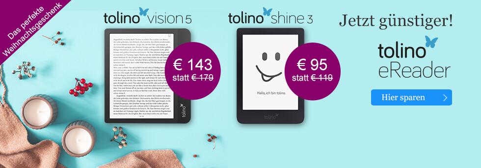 Das perfekte Weihnachtsgeschnenk: tolino eReader - die neue Generation bei eBook.de