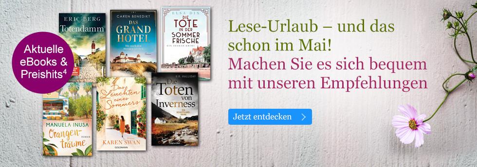 Lese-Urlaub schon im Mai bei eBook.de