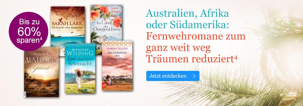 Fernwehromane reduziert: eBooks zum ganz weit weg Träumen bei eBook.de