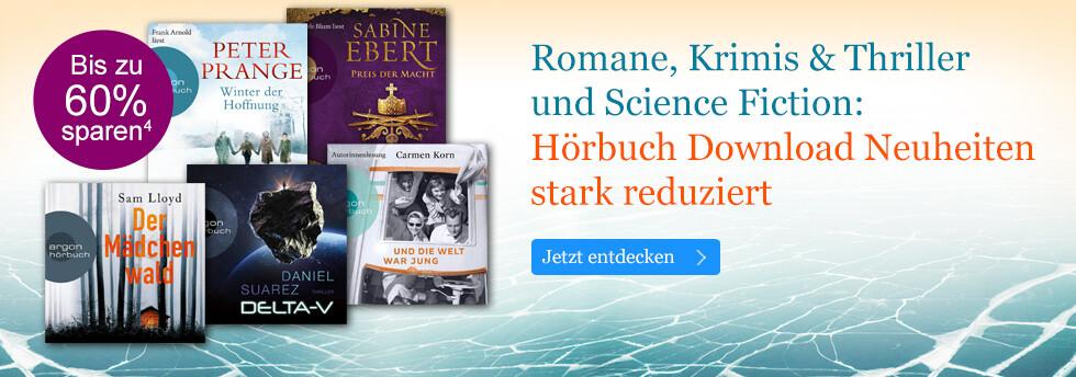 Hörbuch Download Neuheiten stark reduziert bei eBook.de