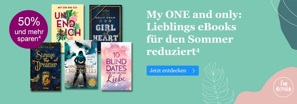 My ONE and only: Lieblings eBooks für den Sommer reduziert bei eBook.de