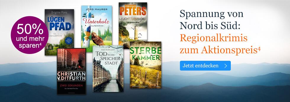 Spannung von Nord bis Süd: Regionalkrimis zum Aktionspreis bei eBook.de