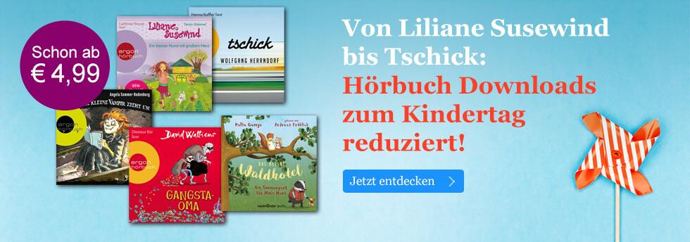 Hörbuch Downloads zum Kindertag stark reduziert bei eBook.de