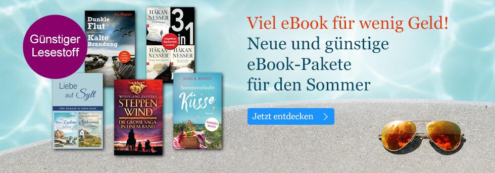 Viel eBook für wenig Geld: Neue eBook-Pakete für den Sommer bei eBook.de
