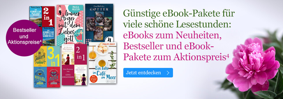 Günstige eBook Pakete für viele schöne Lesestunden bei eBook.de: Neuheiten, Bestseller und eBook-Pakete zum Aktionsprei