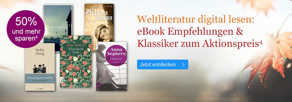 Weltliteratur digital lesen: eBook Empfehlungen & Klassiker zum Aktionspreis bei eBook.de