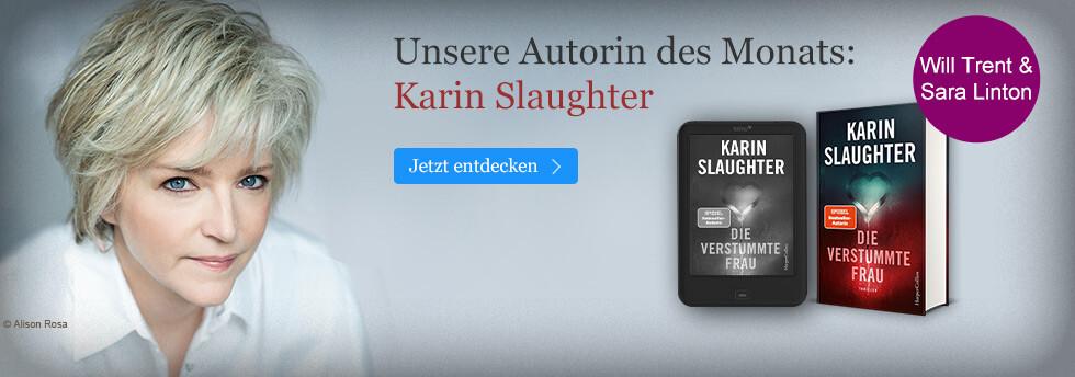 Autor des Monats August bei eBook.de: Karin Slaughter