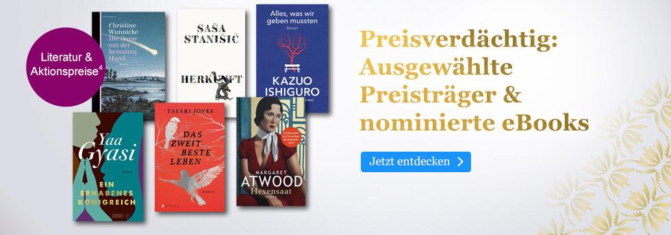 Preisverdächtig: Ausgewählte Preisträger & nominierte eBooks bei eBook.de