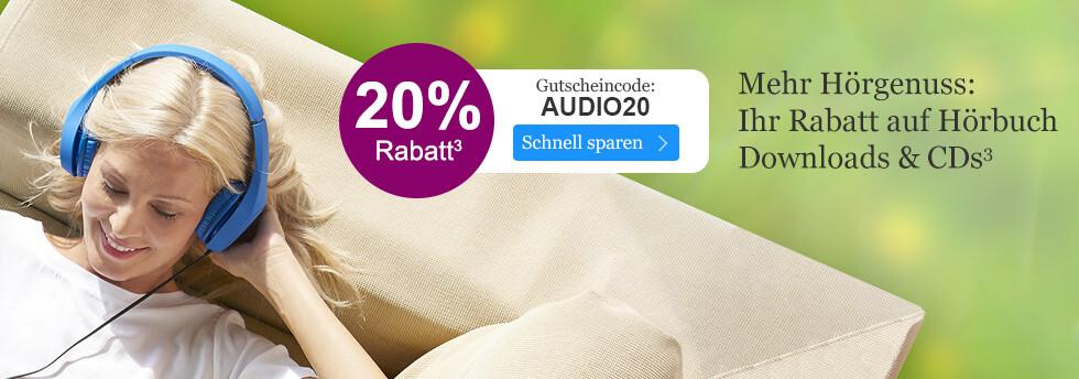 Jetzt 20% Rabatt auf alle Hörbücher sichern mit Ihrem Gutschein AUDIO20 bei eBook.de