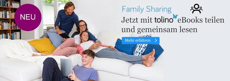 tolino Family Sharing: Jetzt mit tolino eBooks teilen und gemeinsam lesen bei eBook.de