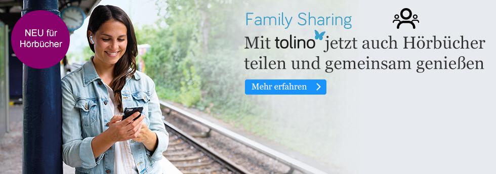 tolino Family Sharing: Jetzt mit tolino eBooks und Hörbuch Downloads teilen und gemeinsam lesen oder hören bei eBook.de