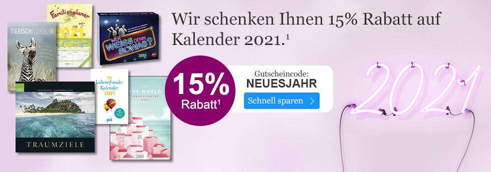 15% sparen auf Kalender 2021