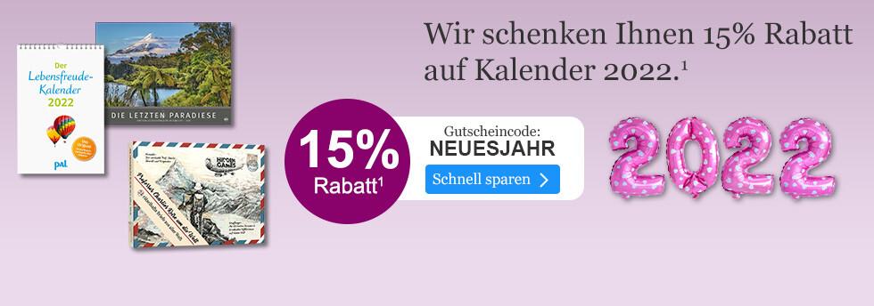 15% sparen auf Kalender für 2022 bei eBook.de