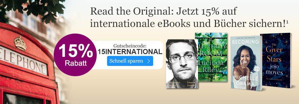 Jetzt 15% auf internationale eBooks und Bücher sparen bei eBook.de