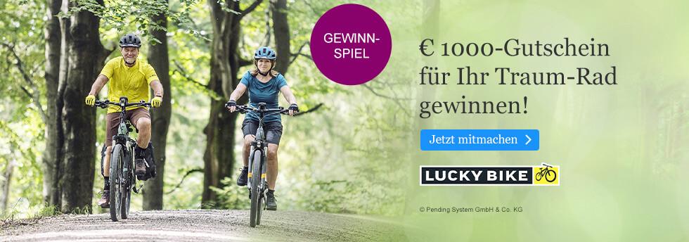Gewinnen Sie einen 1000 EUR-Gutschein für ein Lucky Bike bei eBook.de