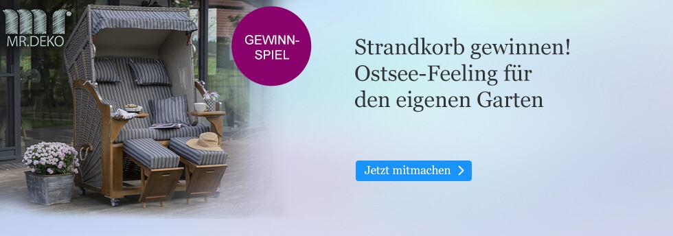 Gewinnen Sie einen Strandkorb mit Ostsee-Feeling bei eBook.de