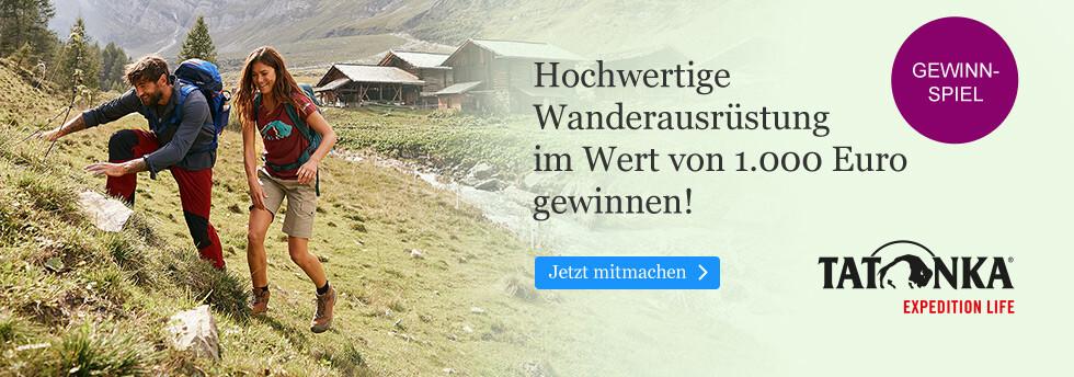 Wanderausrüstung im Wert von € 500 gewinnen